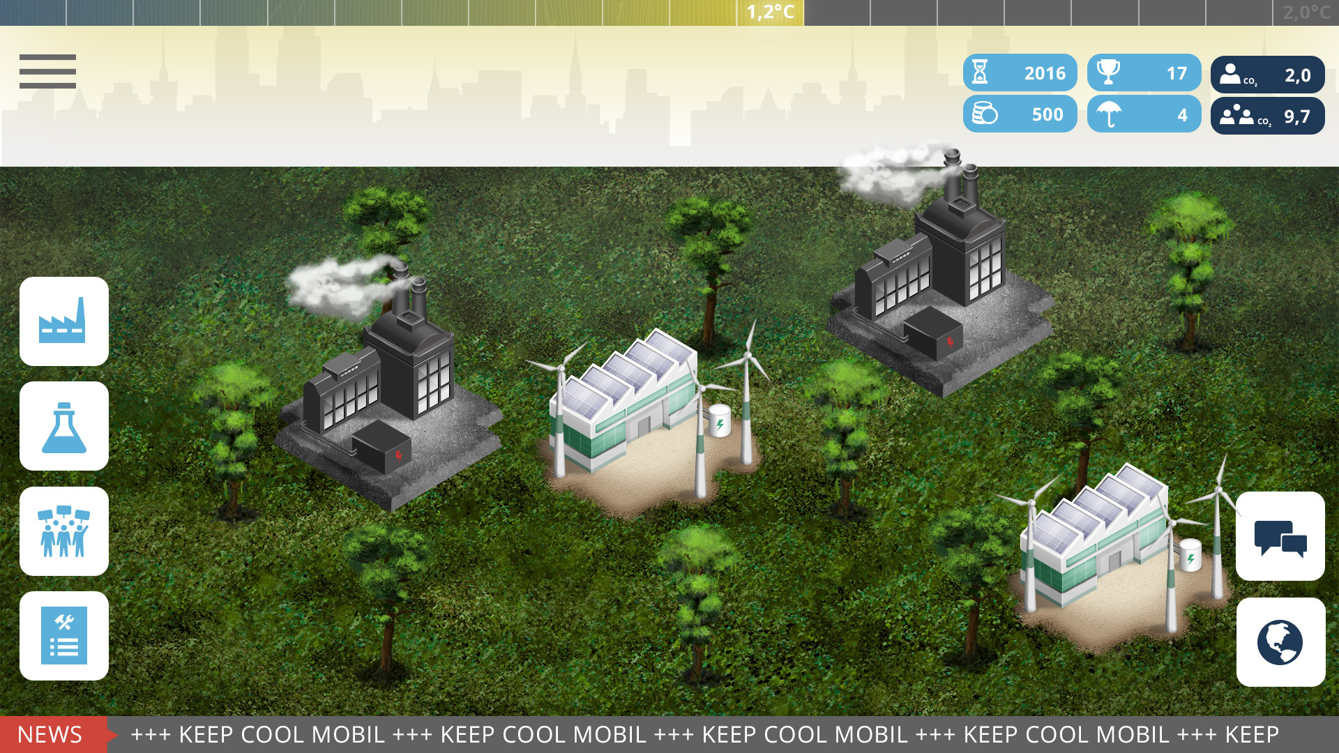 Keep Cool mobil - Das Multiplayer-Game zur Klimapolitik
